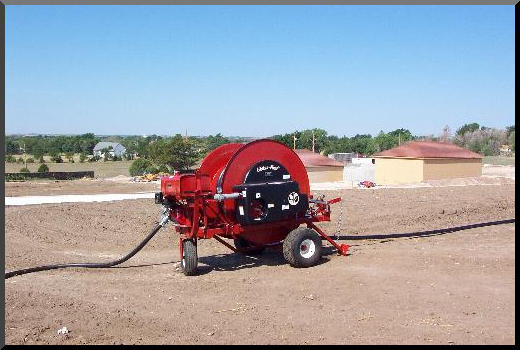 Waterreels irrigate on new construction site