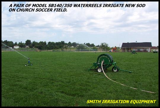 Sprinkler irrigation for football fields