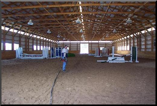 horse riding arena dust control and footing improvement