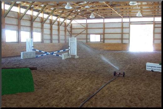 horse arena dust control sprinkler