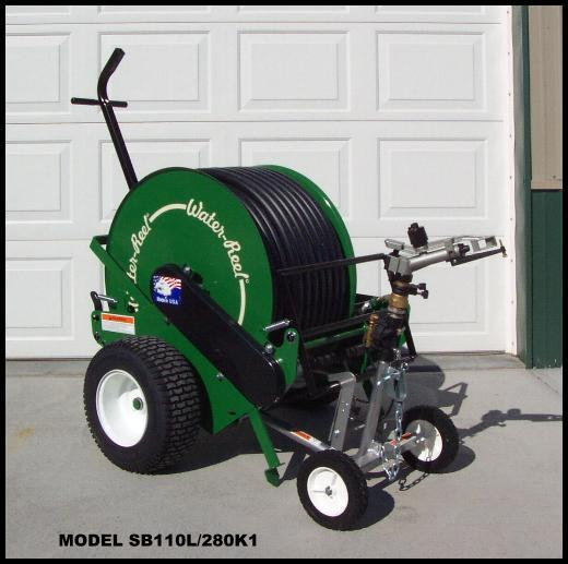 New Model SB110L/280 waterreel can water arenas up to 300 ft long.