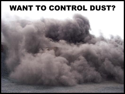 DUST CLOUD ON WASTE DISPOSAL SITE.