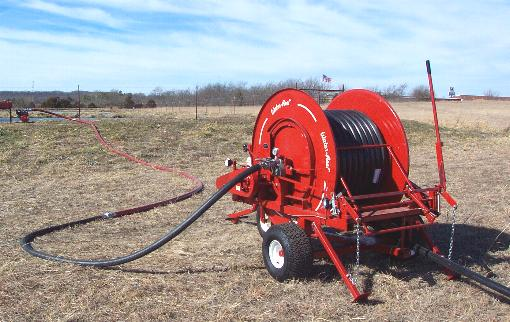 MODEL SE200/580 ENGINE DRIVE WATERREEL IRRIGATES AND LOWERS OVERFULL WASTEWATER LAGOON