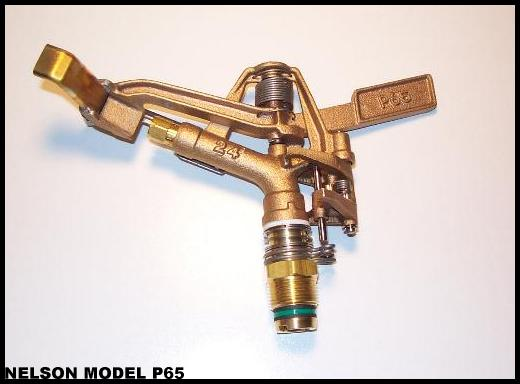 Nelson P65 sprinkler available on SB110 and SB130 waterreels as well as SSW100 sprinkler stands.