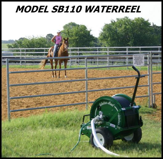 improving riding arena footing with a waterreel self traveling sprinkler