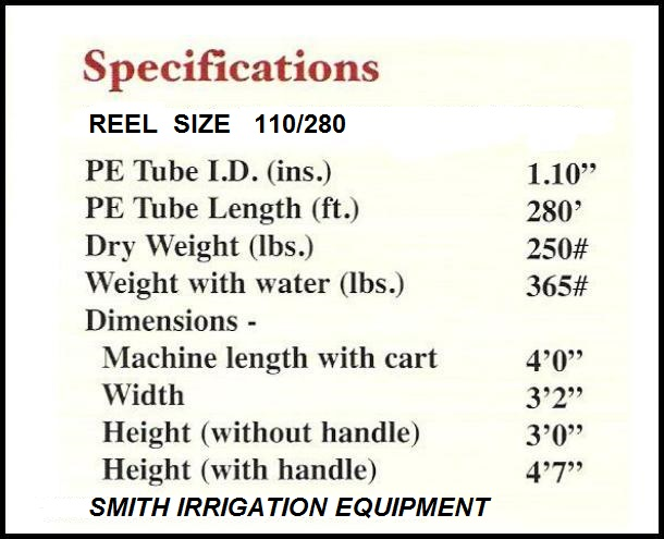 SMITH IRRIGATION SPRINKLERS MODEL B110/280