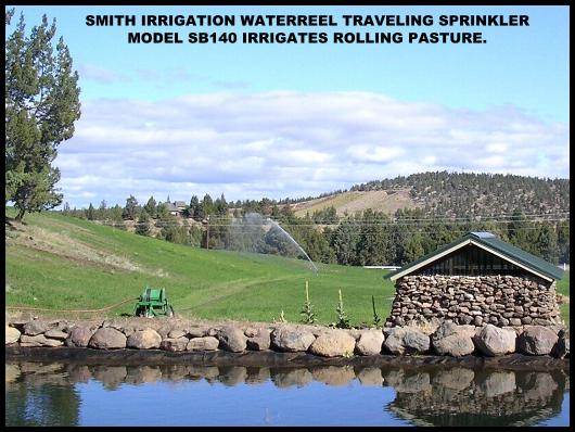 Small pasture are easy to irrigate with the waterreel.