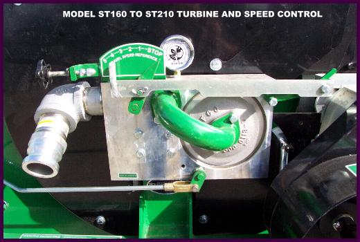 New integrated aluminum turbine, plumbing and speed control on 160 through 210 waterreels.