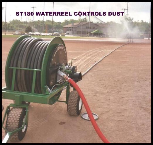 Model ST180 controls ball diamond dust at Blue Valley Sports Complex.