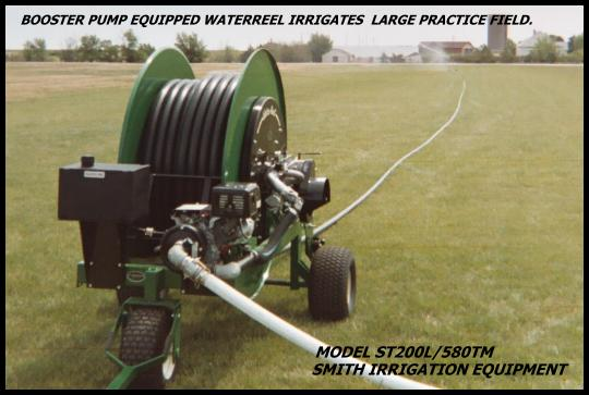 smith waterreels irrigate footbal fields in one pass