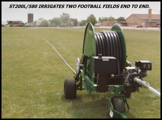 waterreel traveling sprinklers  irrigate sports fields  with Big Gun Sprinkler