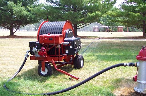 Model T200P waterreel irrigates facility grounds