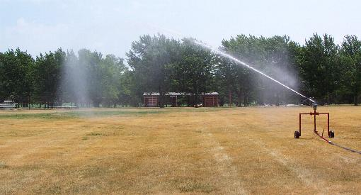 Volume sprinkler used on larger waterreel models