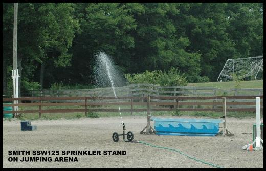 Smith SSW125 portable sprinkler stands water jumping arenas.