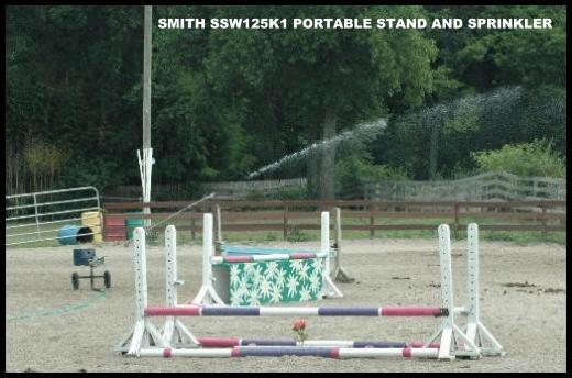Smith model SSW125 portable sprinkler stand with Sime K1 sprinkler.