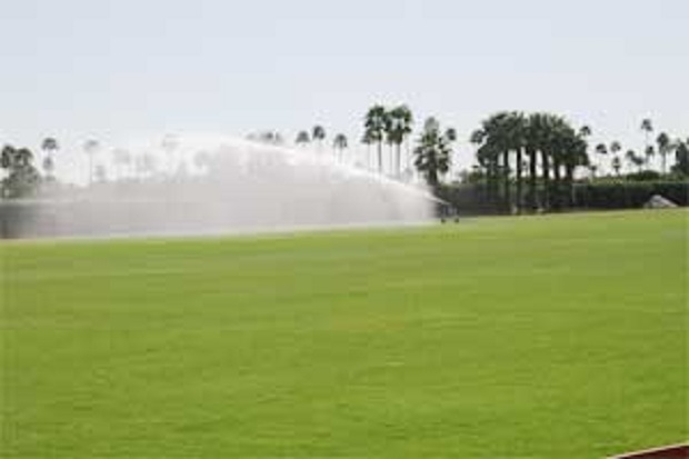 Smith Irrigation traveling sprinklers make polo field irrigation easy!