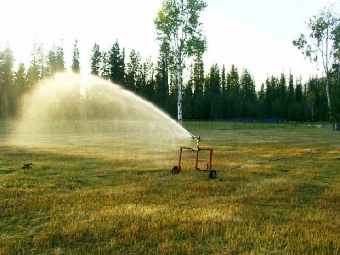 Smith Irrigation Equipment's traveling sprinkler systems make pasture irrigation easy.